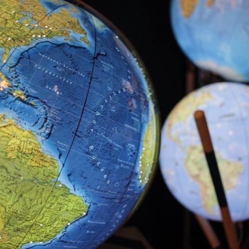 Handkaschierter Columbus Globus